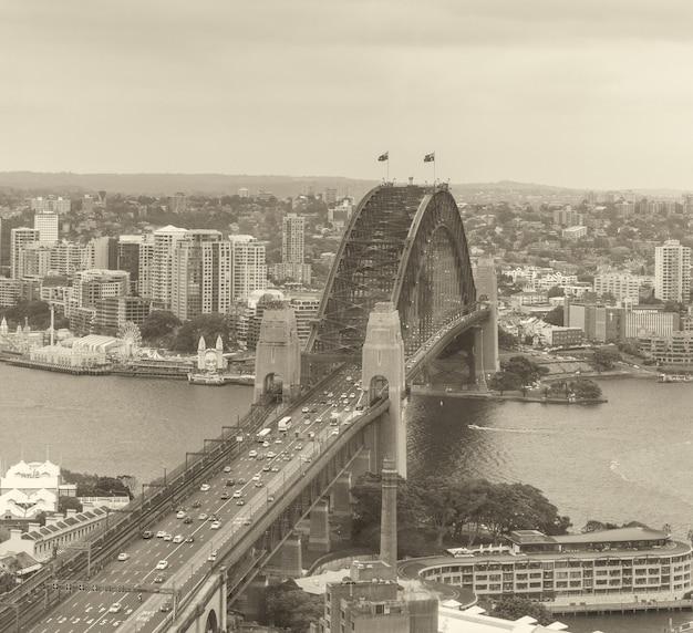 Sydney harbour bridge, new south wales.