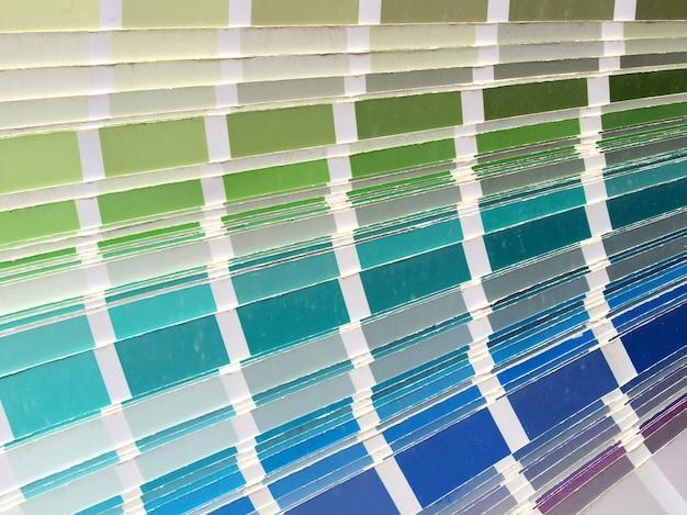Tabela de cartela de cores