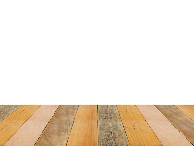 Tabela de madeira no fundo do branco do isolado. conceito de primavera ou verão.