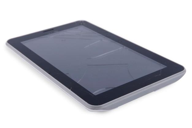 Tablet com tela de vidro quebrado