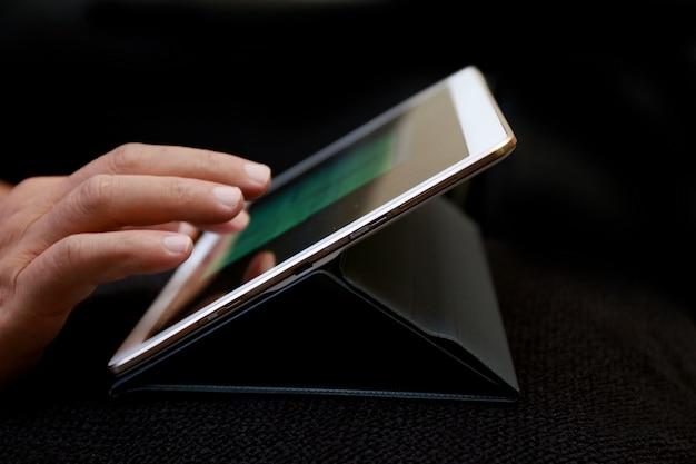 Tablet de uso de empresário