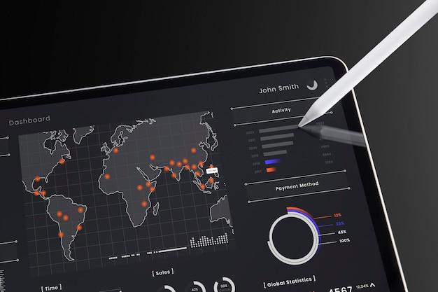 Tablet digital para aprendizagem online
