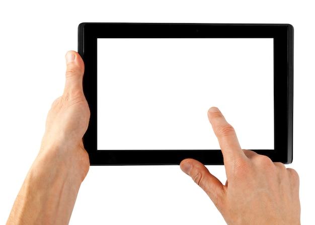 Tablet em uma mão