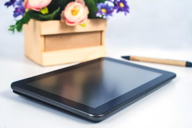 Tablet móvel para compras on-line e comércio eletrônico.