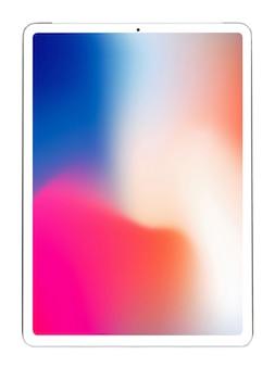 Tablet pc branco isolado sobre sobre o fundo branco.