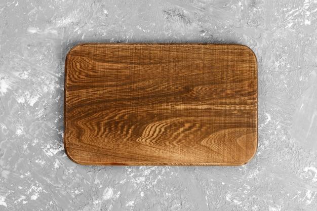 Tábua de madeira artesanal escura