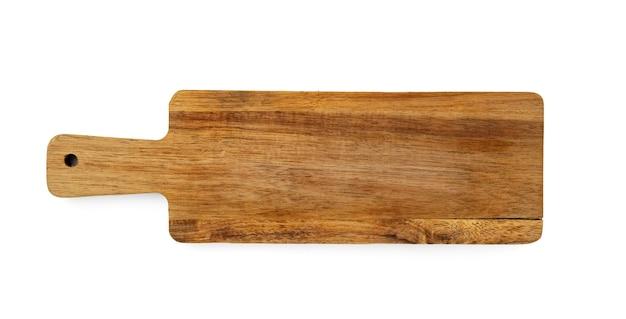 Tábua de madeira escura em fundo branco