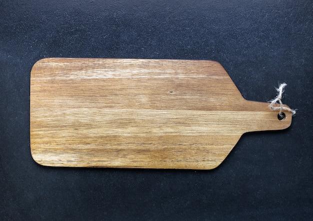 Tábua de madeira vazia rústica em preto