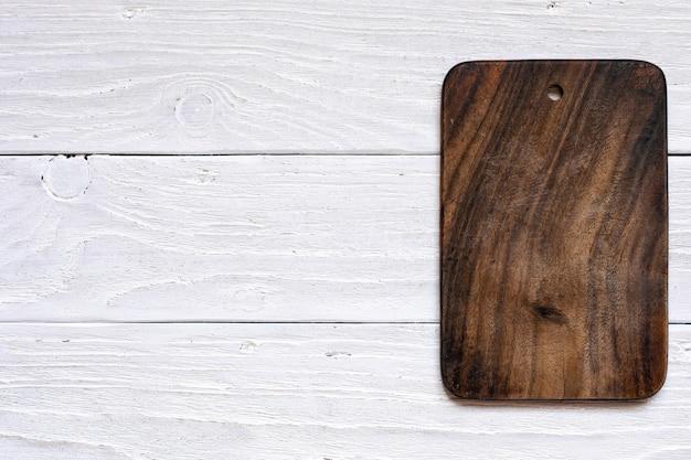 Tábua de madeira vintage com espaço de cópia