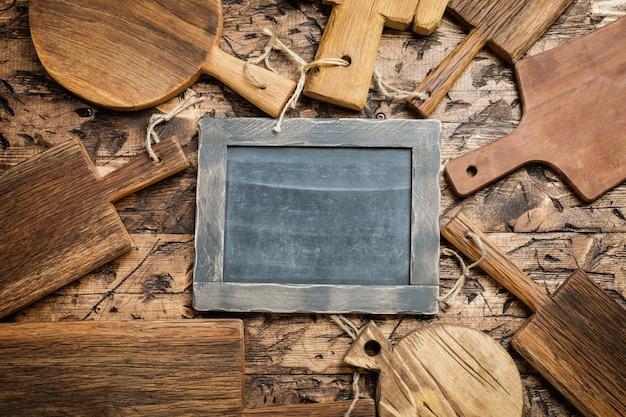 Tábuas de corte de madeira