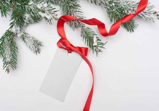 Tabuleta de etiqueta de natal para o seu convite de ano novo de texto, saudações