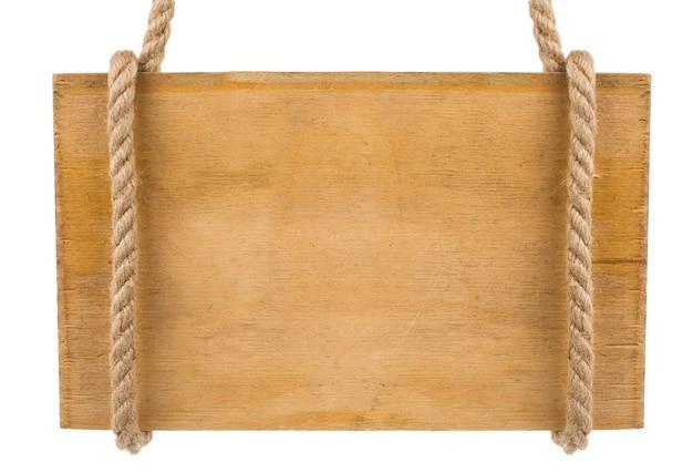 Tabuleta de madeira em branco