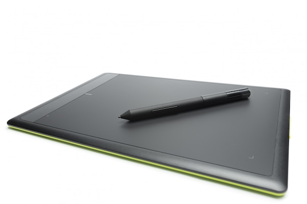 Tabuleta gráfica com caneta para ilustradores e designers, isolado