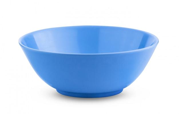 Taça azul vazia em branco