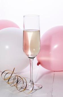 Taça de champanhe close-up
