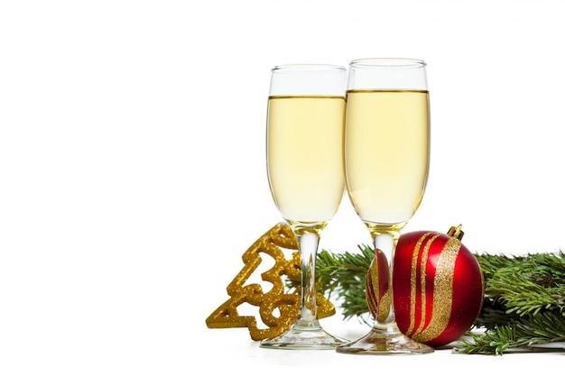 Taça de champanhe isolada