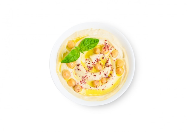 Taça de humus isolado