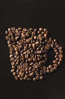 Taça feita de grãos de café