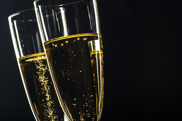 Taças de champanhe para ocasião festiva