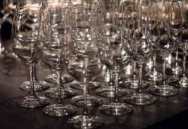Taças de vidro para vinho