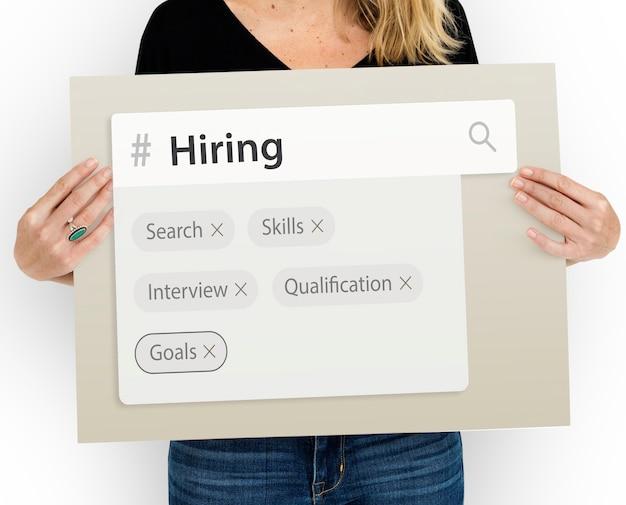 Tags do mecanismo de pesquisa de empregos de recrutamento