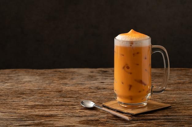 Tailandesa chá famosa bebida bebida tradicional