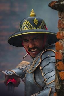 Tailândia, homem antigo guerreiro