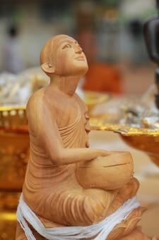 Tailândia madeira buddha.
