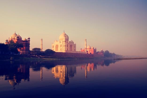 Taj mahal, em, agra, índia