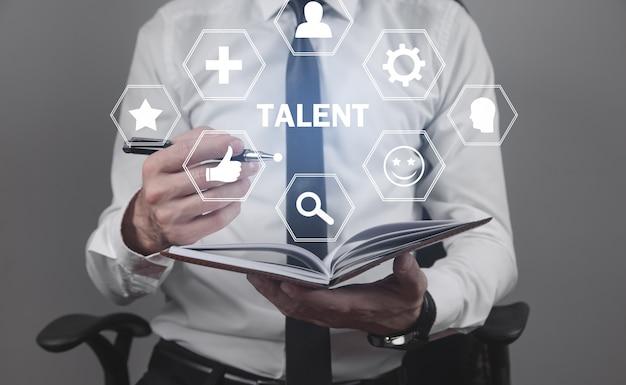 Talento e potencial. recursos humanos