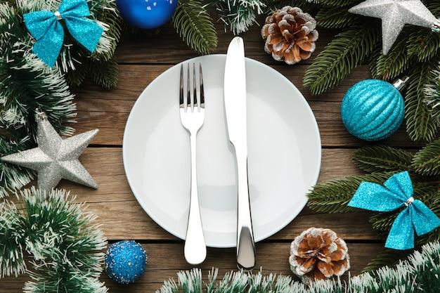 Talheres de mesa de natal