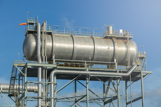 Tambor de óleo quente, tambor de óleo quente na usina de energia para monitorar e controlar remotamente o tanque ou tambor da caldeira.