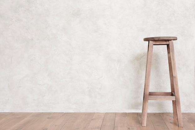 Tamborete de bar de design minimalista de close-up