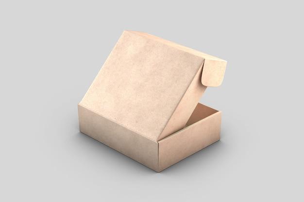 Tampa da caixa postal vazia de papelão kraft