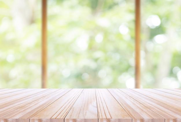 Tampo de madeira em desfocus cozinha fundo