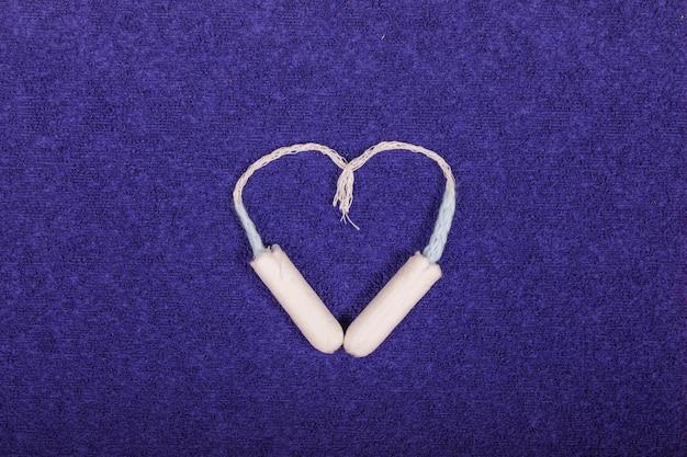 Tampões fazendo um coração