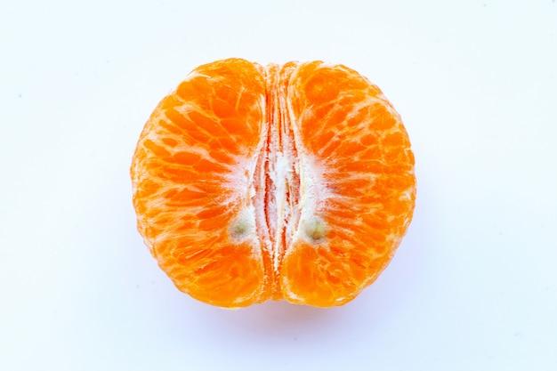 Tangerina descascada ou tangerina em branco