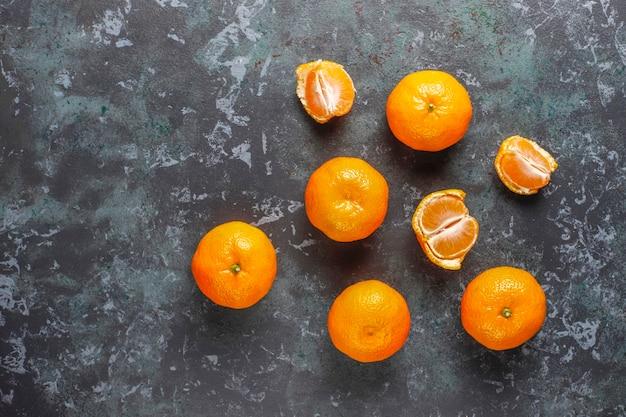 Tangerinas frescas e suculentas de clementina.