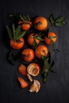 Tangerinas orgânicas frescas e picantes