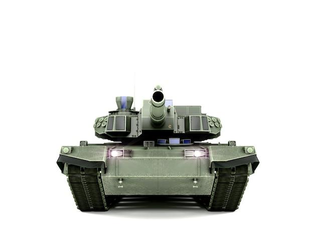 Tanque de batalha principal t90 isolado na superfície branca
