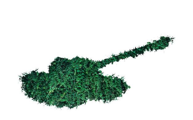 Tanque de grama isolado no fundo branco. nenhum conceito de guerra. arma ecológica.