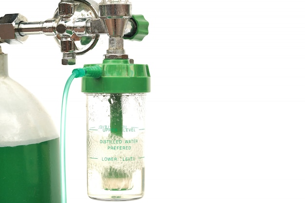 Tanque de oxigênio médico do equipamento e medidor de regulador de cilindro