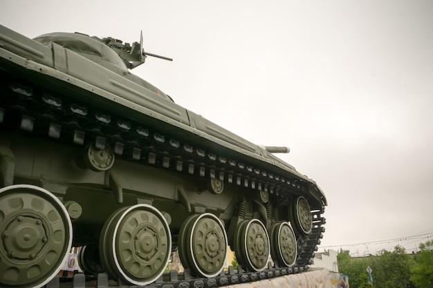 Tanque militar na cidade