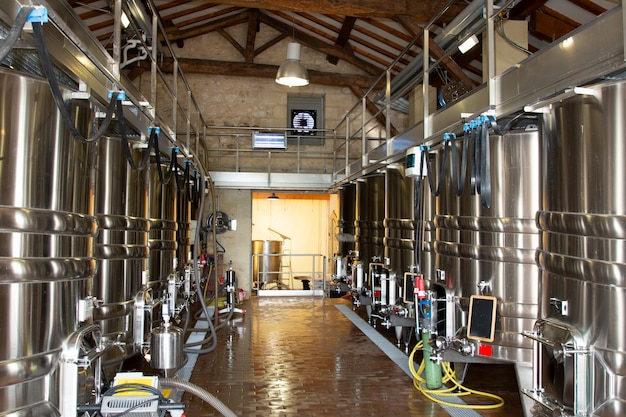 Tanques de aço fábrica de vinho grande fermentação