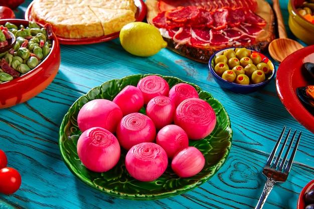 Tapas pickles onion vinagre tinto da espanha