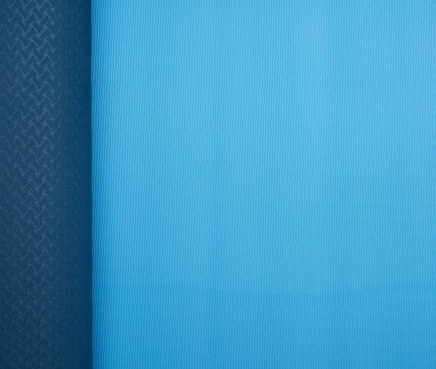 Tapete de neoprene trançado azul, equipamentos esportivos