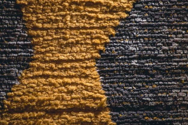 Tapete de poliéster com textura de algodão em duas cores