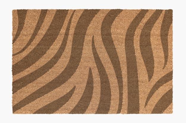 Tapete de porta com estampa de zebra essencial