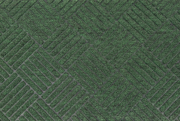 Tapete de tapete de porta texturizado verde
