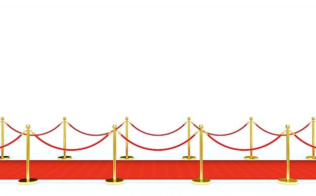 Tapete vermelho e barreira